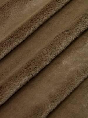 Мех искусственный мутон плотный ворс красивый коричневый оттенок_03