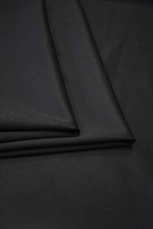 Костюмная шерсть стрейч черная