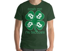 Cash me I'm Bitcoin! BCH Shamrock Short-Sleeve Unisex T-Shirt