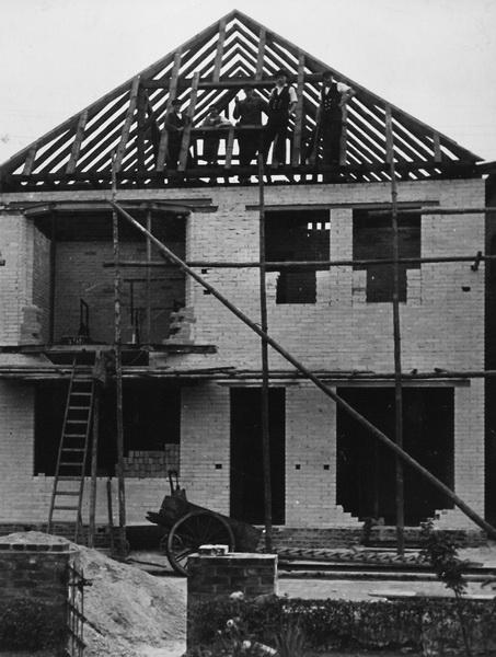 -96- Aufnahme 1936 beim Umbau des Hauses.
