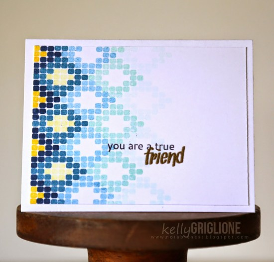 Altenew Modern Beadwork True Friend Card