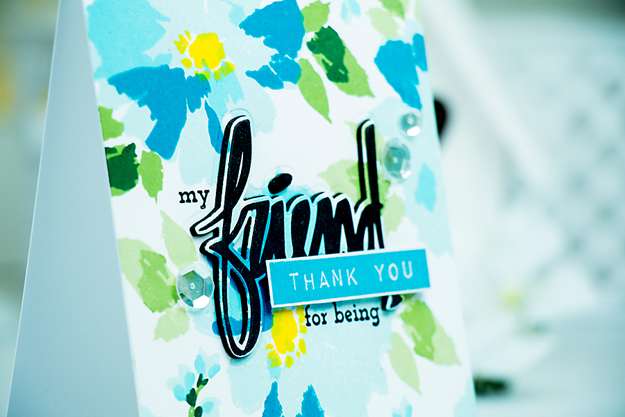 Yana Smakula | Thank you for being my friend card