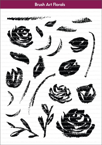 brush art florals