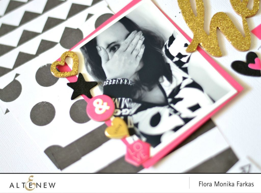 black and white diy patterned paper