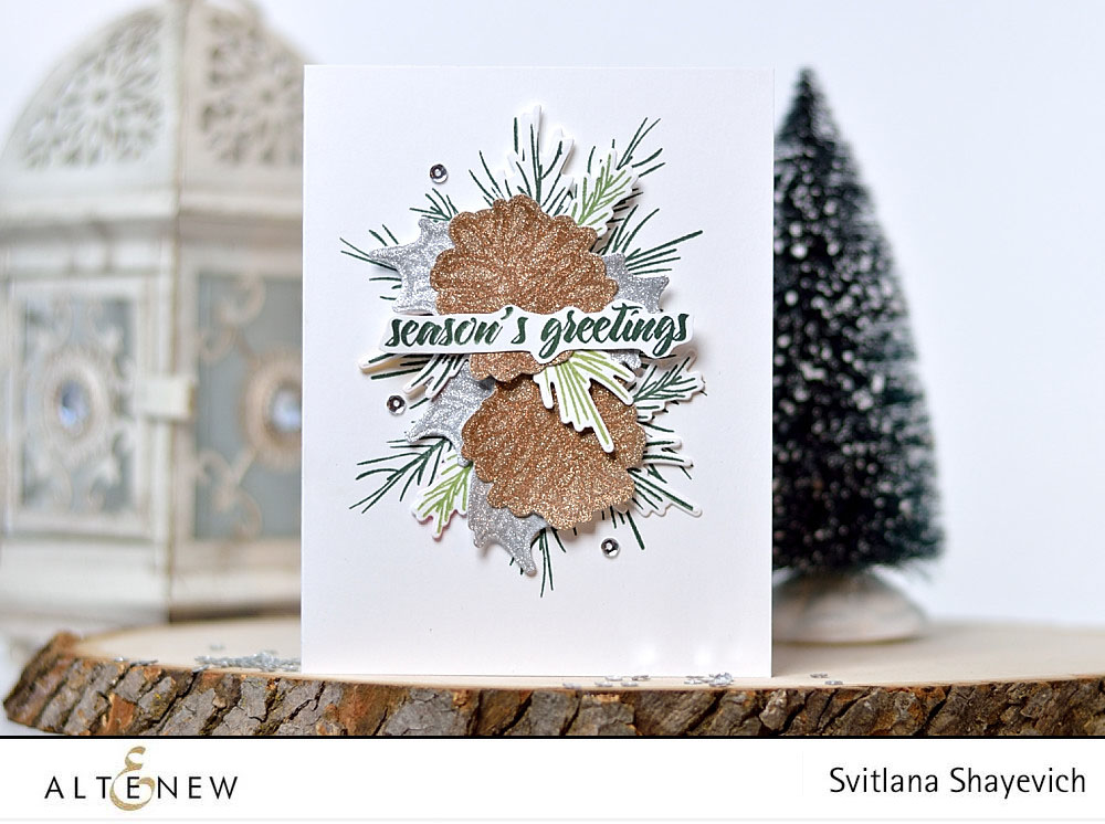 altenew-svitlana-shayevich-ponsettia-and-pine-embossing-on-glitter-paper-01