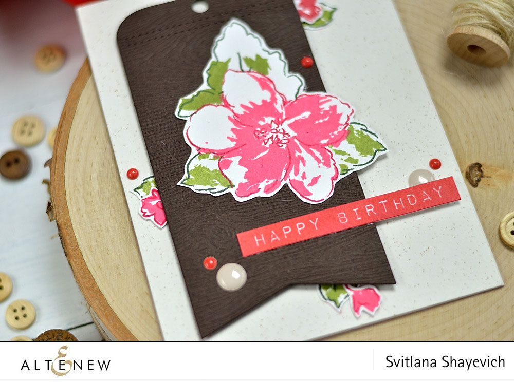 Altenew Hibiscus Bouquet. Card by @s_shayevich