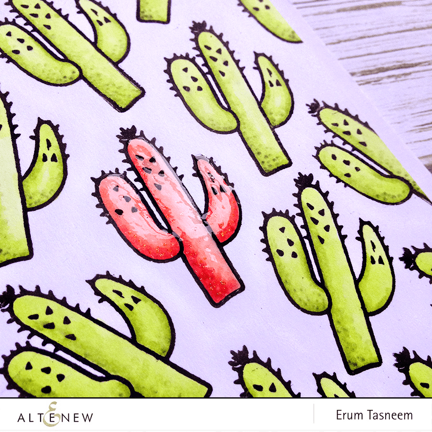 Altenew Be Strong stamp set colored using Artist Markers by @pr0digy0