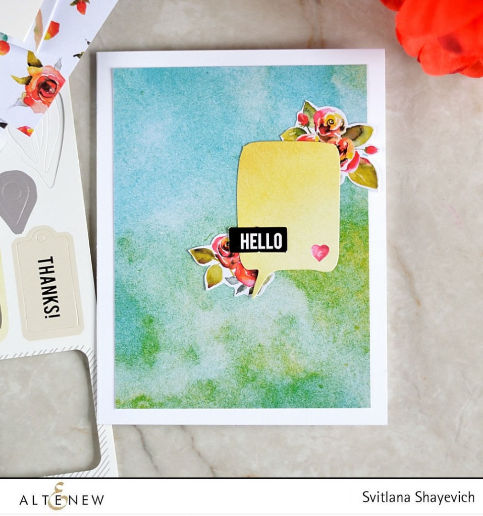@altenew New Day Card Kit. Card by @craftwalks