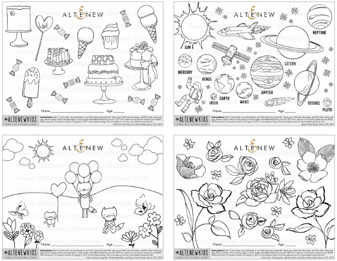 Kids Coloring Contest + Giveaway - Altenew Blog