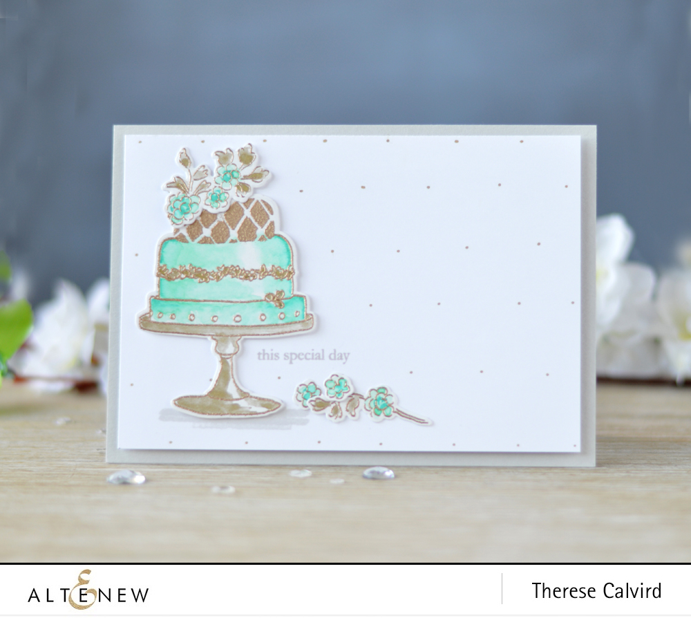 Altenew - Cake Love - Beautiful Day - Embossing Powder - Lostinpaper (card) 1 copy