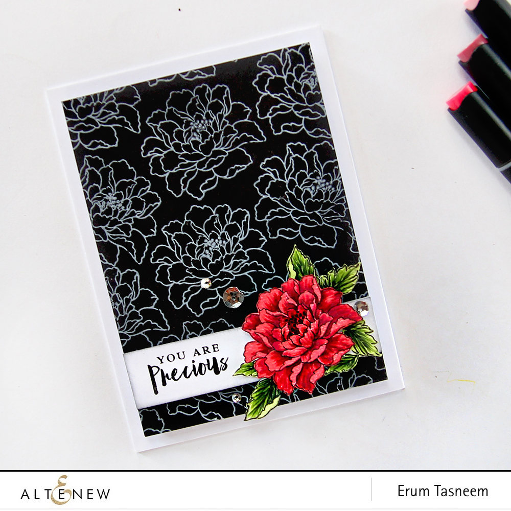 Altenew Remember This Stamp Set coloured using Artist Markers by Erum Tasneem - @pr0digy0