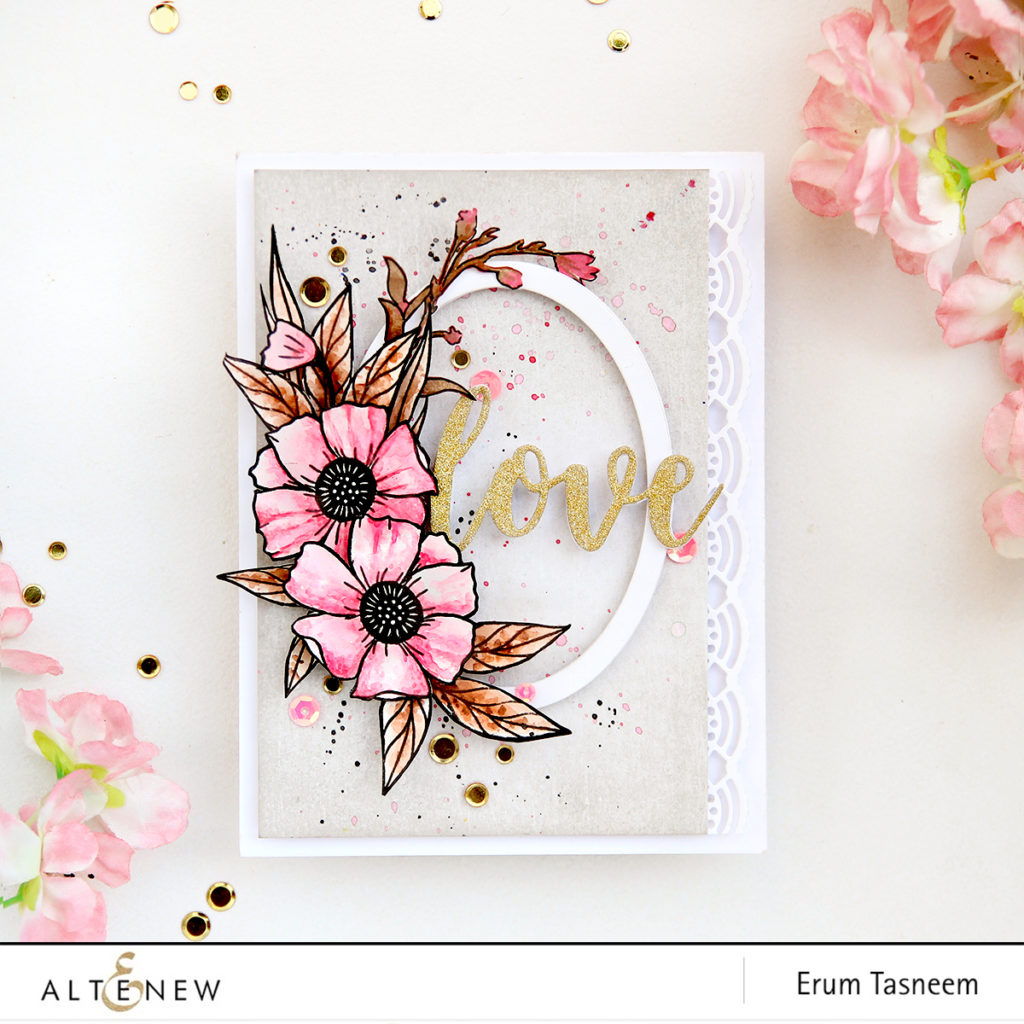 Altenew Happy Bloom Stamp Set | Erum Tasneem | @pr0digy0 | @altenew