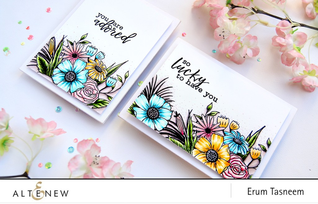 Happy Bloom Stamp Set  Artist Markers | Erum Tasneem | @pr0digy0