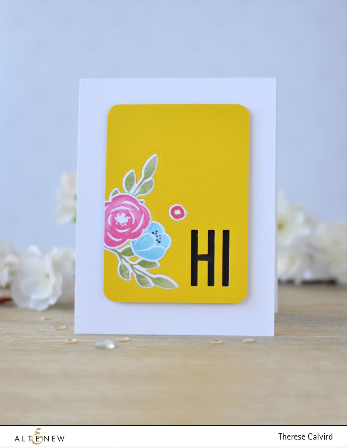 Altenew - Floral Elements - Fine Alphabet Die - Therese Calvird (card video) 1 copy