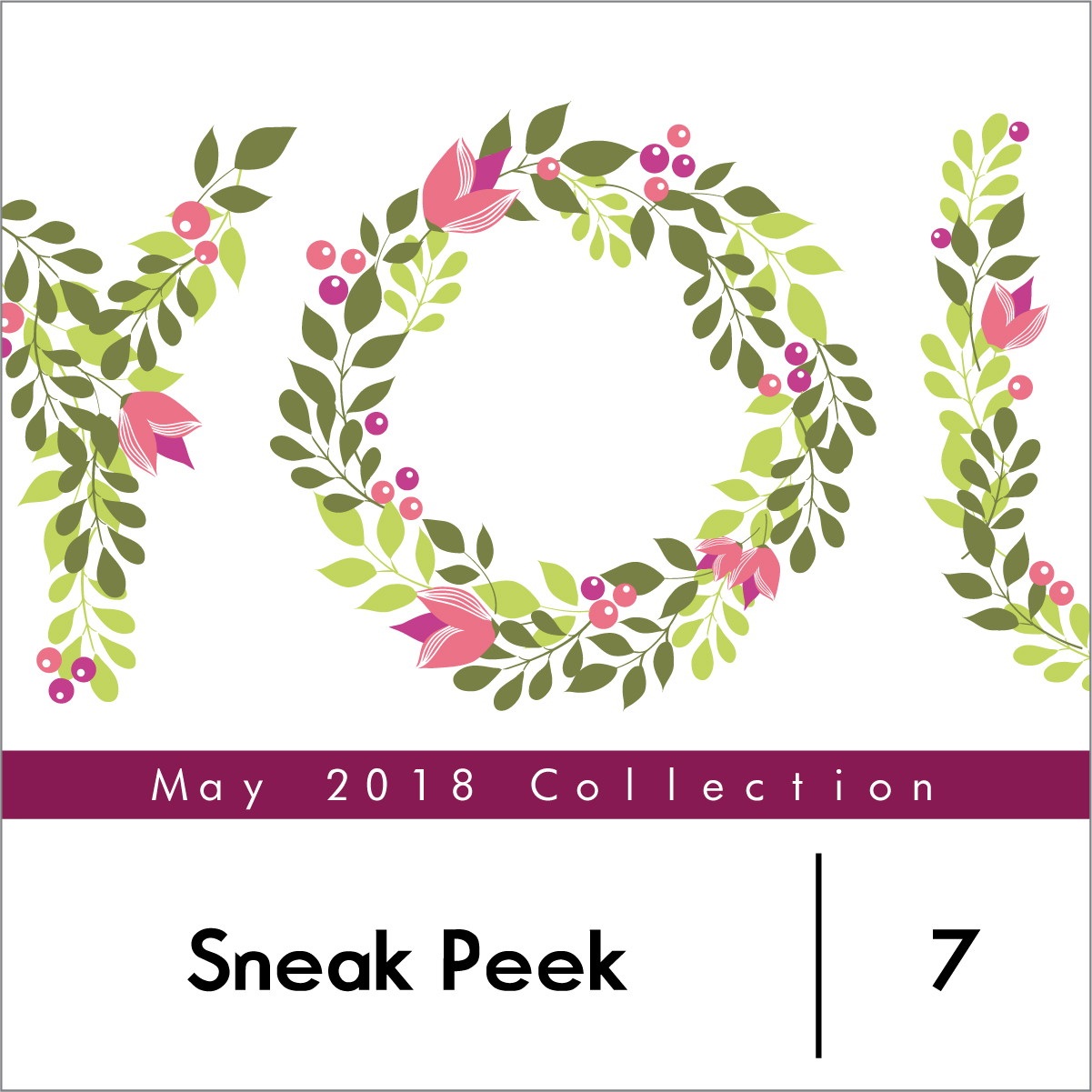 This Clever Stamp Set Includes Four Layers To Create The Word You Made Out Of Leaves Flowers And Berries Can Be Stamped In Different