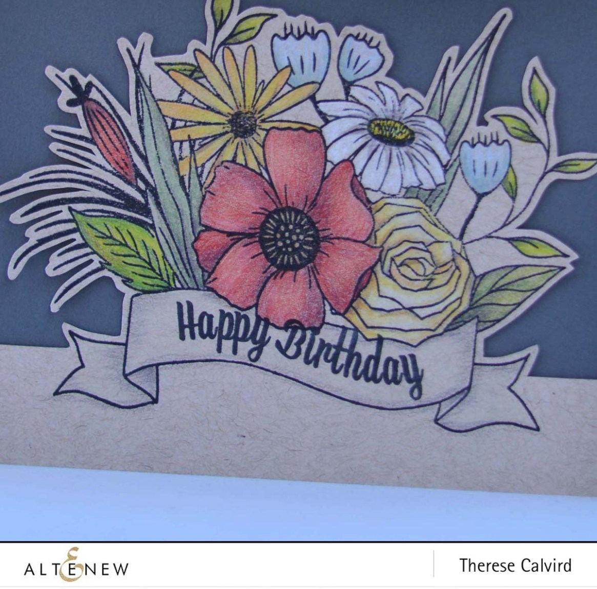 Altenew - Happy Bloom - Therese Calvird (card video) 1 copy