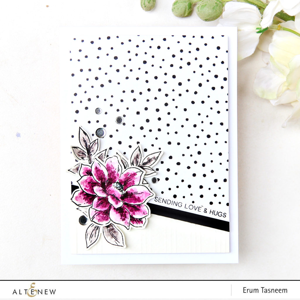 Altenew Perfectly Perfect Stamp Set | Dotted Washi Tape | Erum Tasneem | @pr0digy0