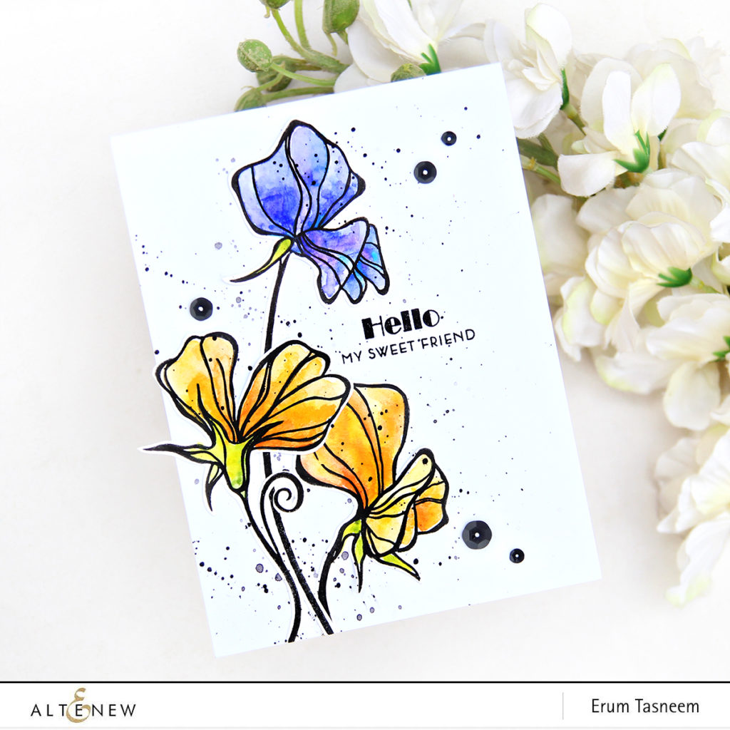 Altenew Sweetest Peas | Altenew Watercolors | Erum Tasneem | @pr0digy0