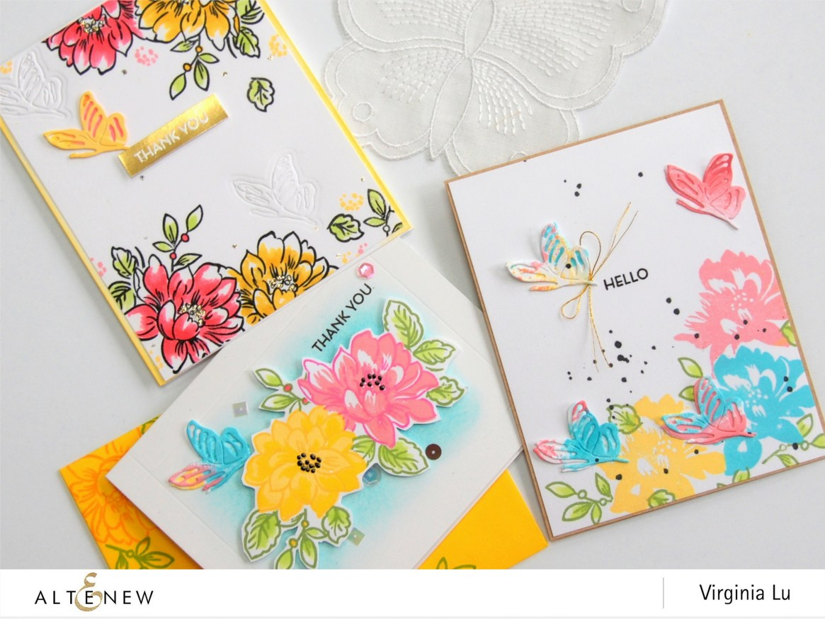 Altenew-SunlitFlowerCArdmaking kit-Virginia#10