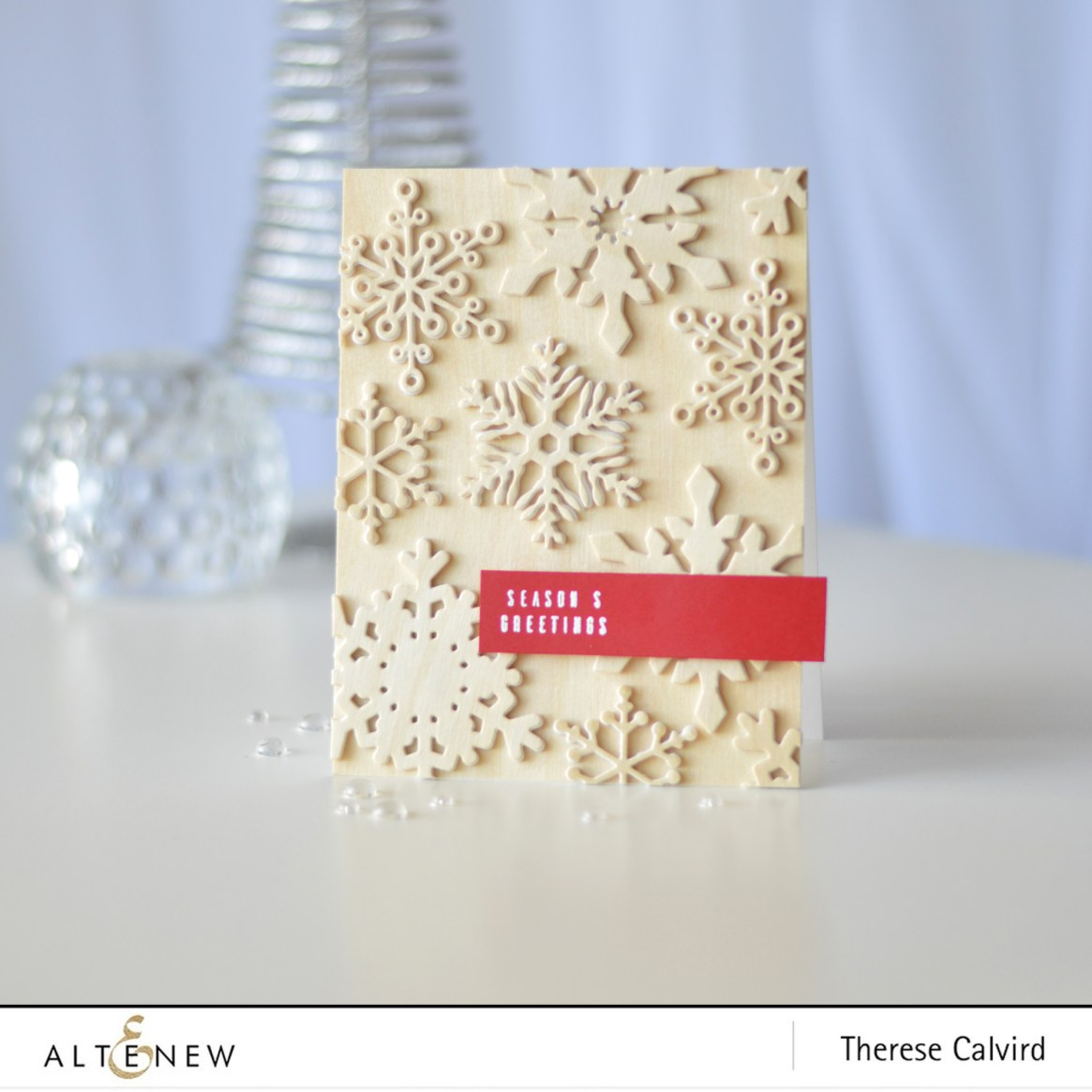 Altenew - Layered Snowflake Die - Festive Poinsettia - Therese Calvird (card video) (1) copy