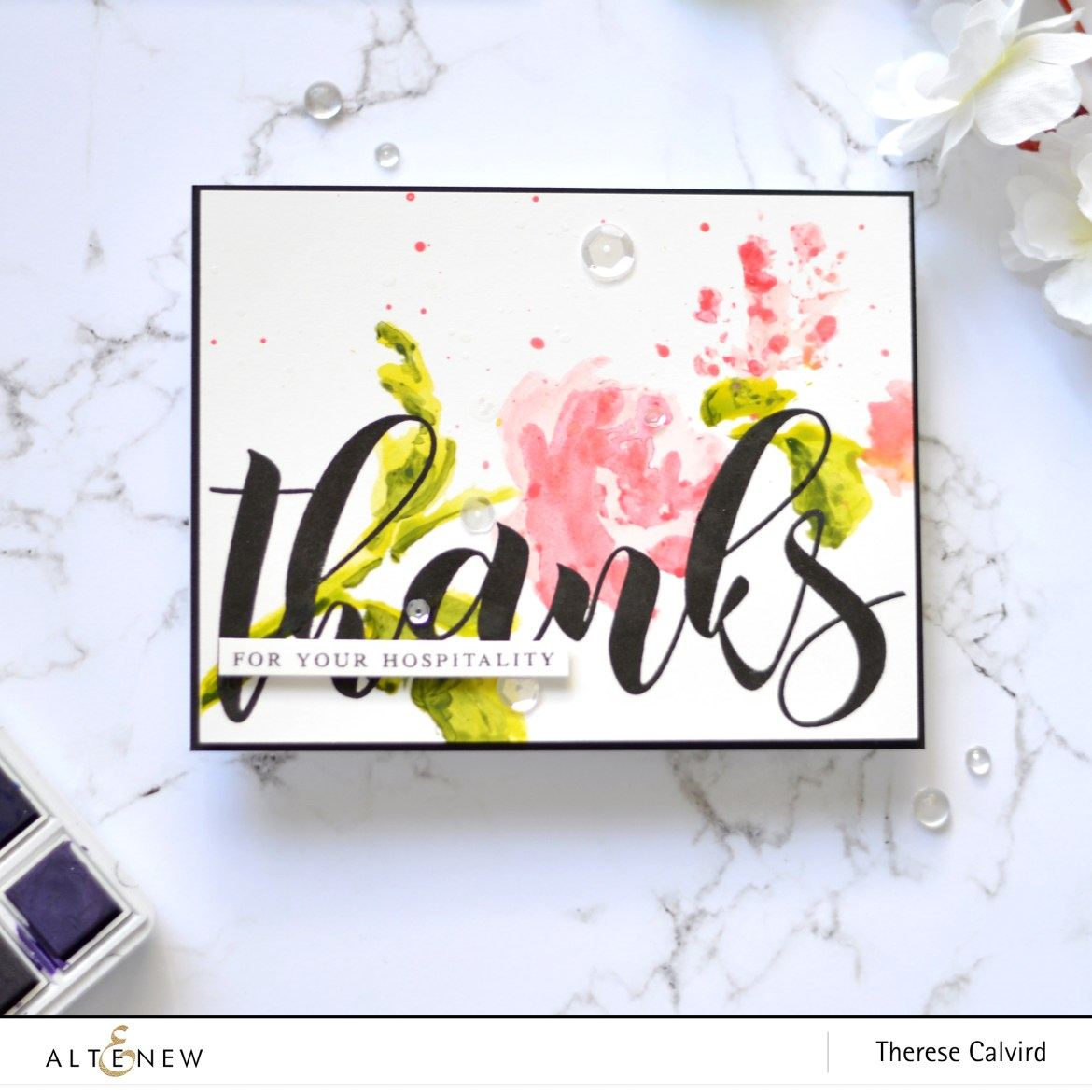Altenew - Mega Greetings - Watercolor Bouquet - Take 2 with Therese (card video) 3 copy