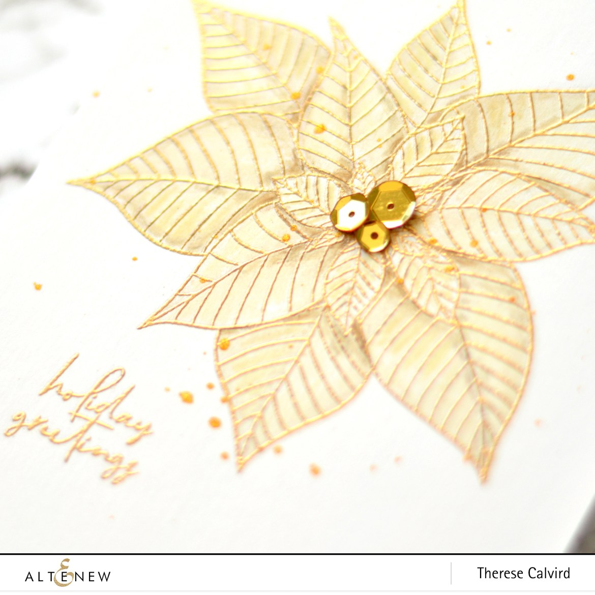Altenew - Modern Poinsettia - Take 2 With Therese (card video) 1