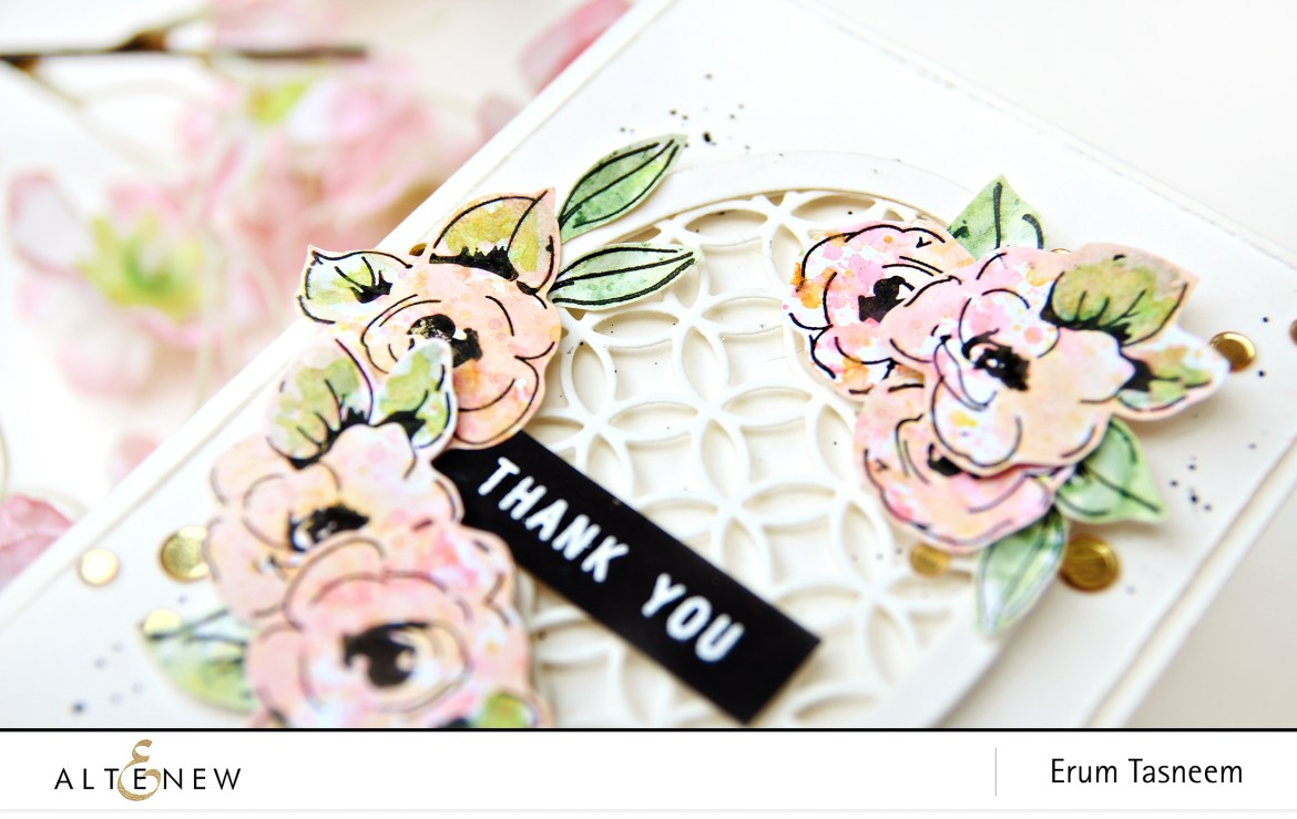 Altenew Painted Flowers Stamp Set | Erum Tasneem | @pr0digy0