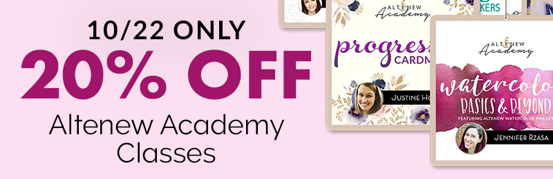 20% off Altenew Academy Classes