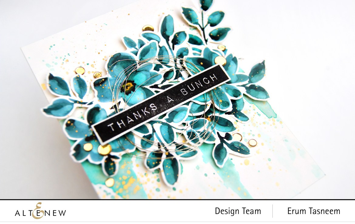 Altenew Teal Shadow Washi Tape and Label Love Stamp Set | Erum Tasneem | @pr0digy0