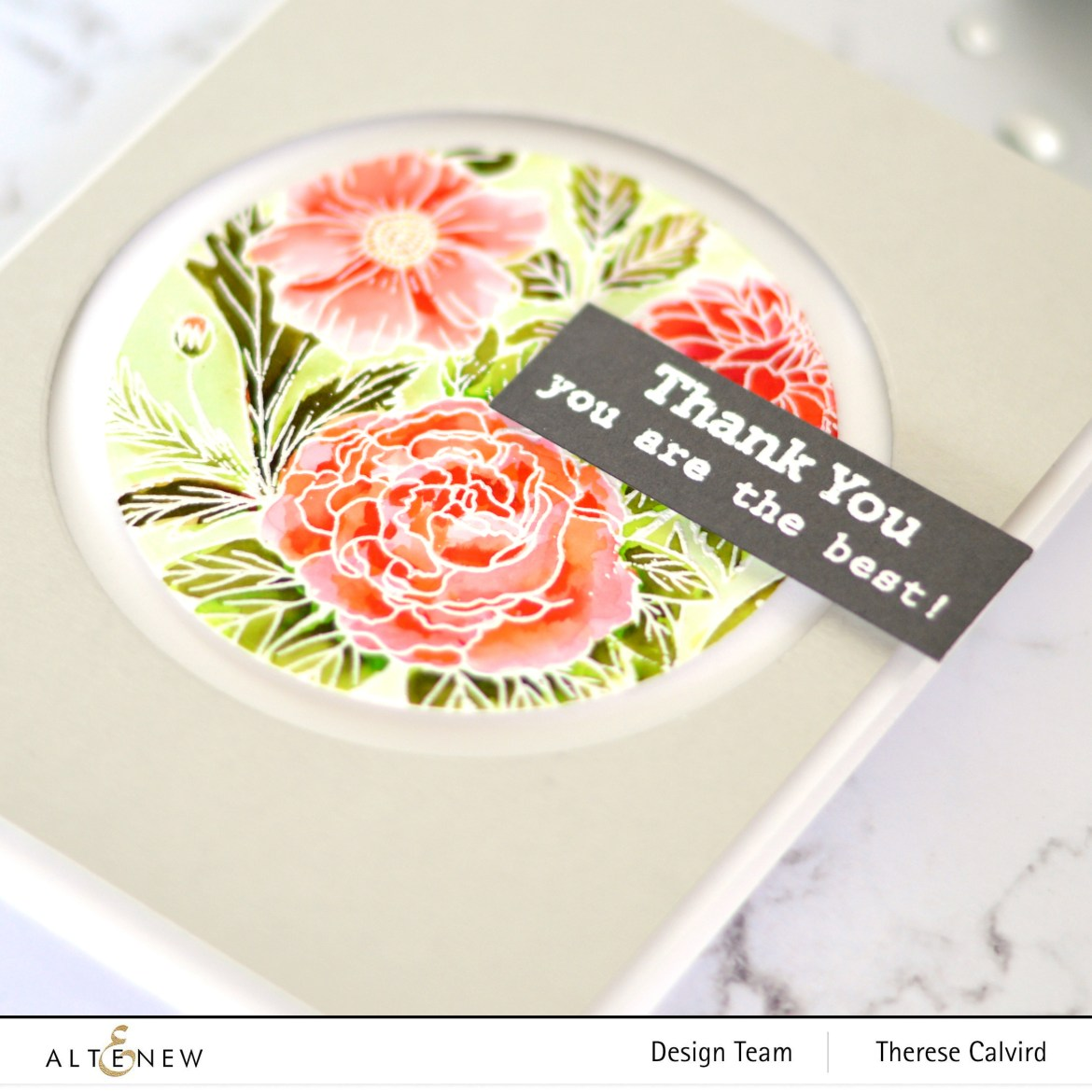 Altenew - Exotic Garden - Hello and Hugs - Take 2 With Therese (card video) 1