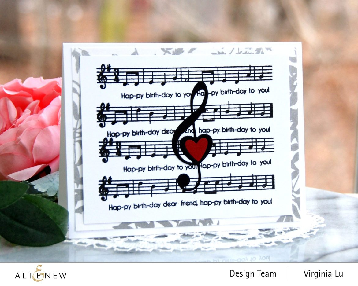 Altenew-Happybirthday to you-Diewith LogoTreble Love Die Set-Virginia#1