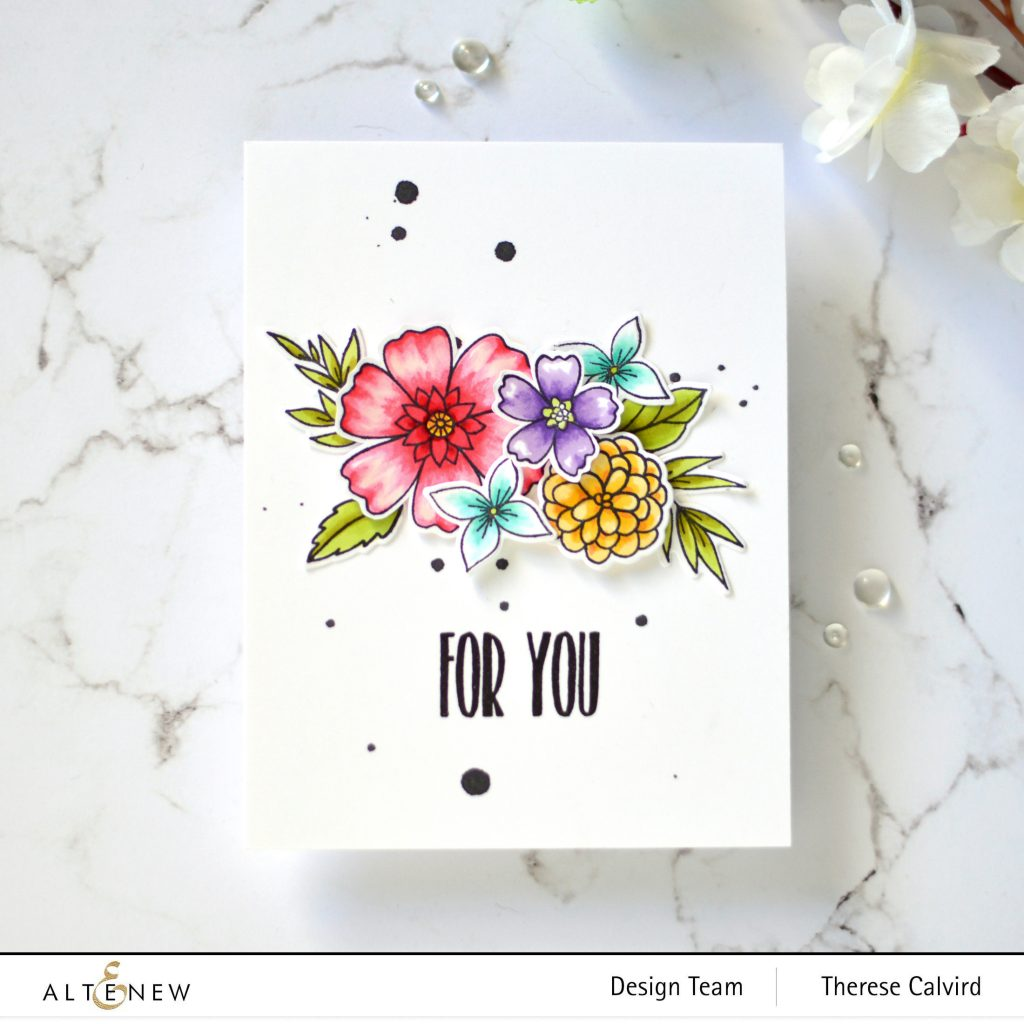 Altenew - Wild & Free - Apothecary Labels - Watercolor Dots - Take 2 With Therese 1