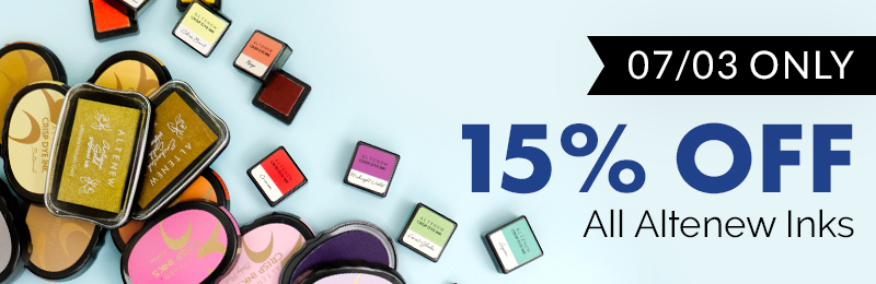 15% off all inks, ink pads, pigment inks,