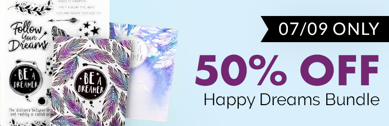 50% off happy drams stamp die bundle