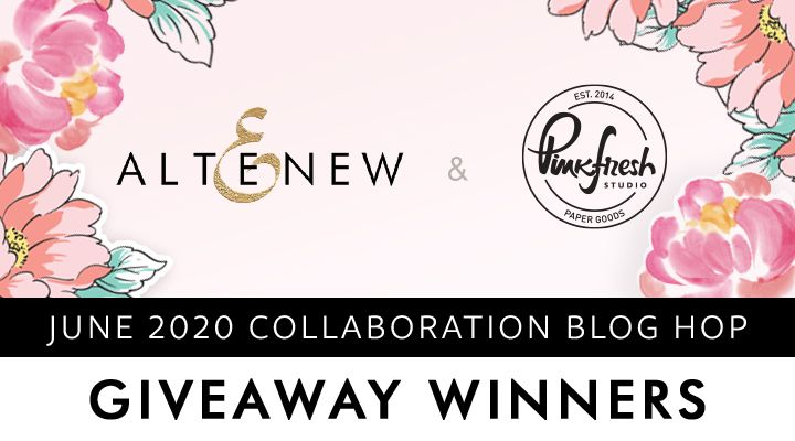 Giveaway Winners Banner for Altenew and PinkFresh Studio Collaboration Release Blog Hop and Giveaway