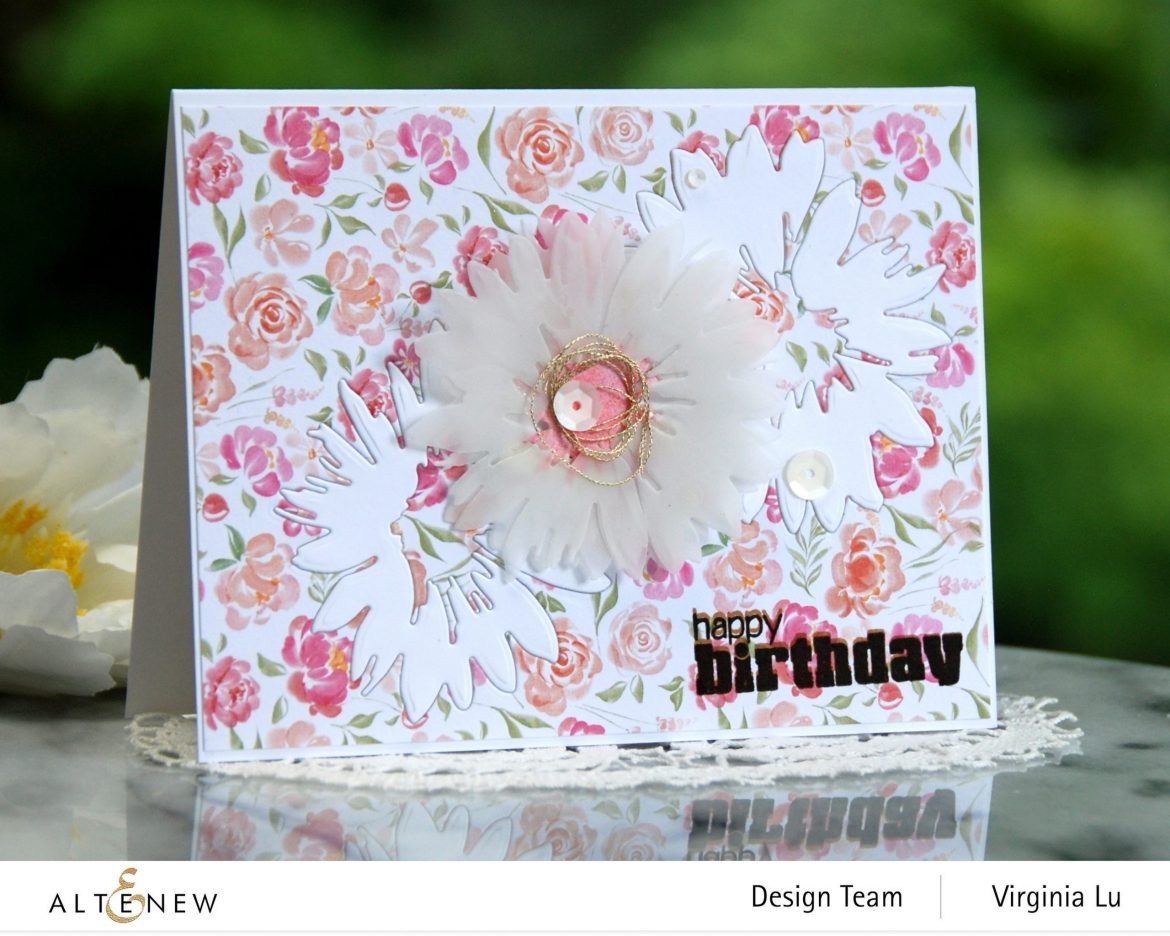 Altenew-Craft-a- Flower Daisy-Rounded-Checkerboard Stamp-Celebrate Paper Pad-0808 2020