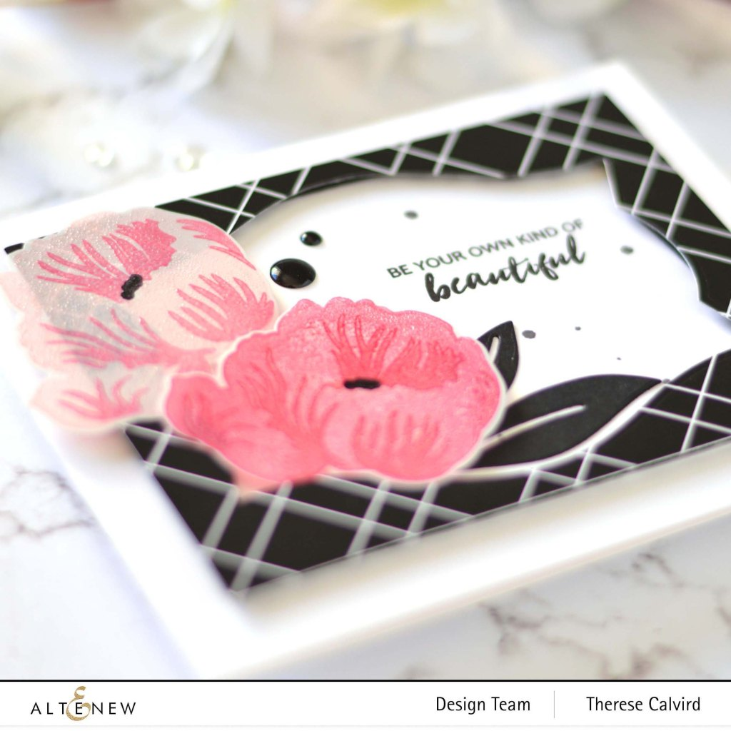 Altenew - Mixed Media Ink Product Focus - Poppy - Nesting Labels - Anemone - Take 2 With Therese 5 copy