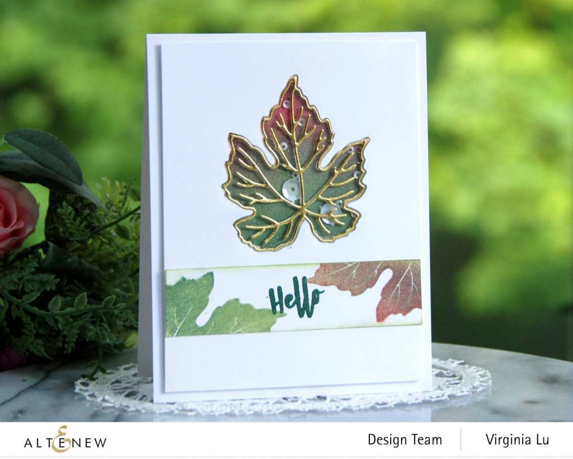 09-12-2020-Grape Leaves Stamp Set-Mixed Media Pigment Ink