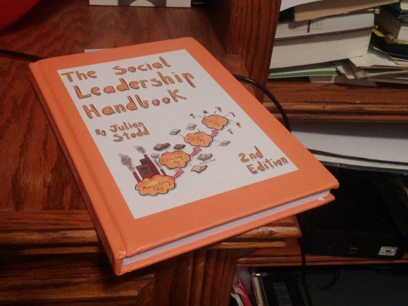 Julian Stodd gave away copies of his book, The Social Leadership Handbook, at his presentation