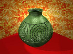 Green Caddo Jar - Blender 3D Model