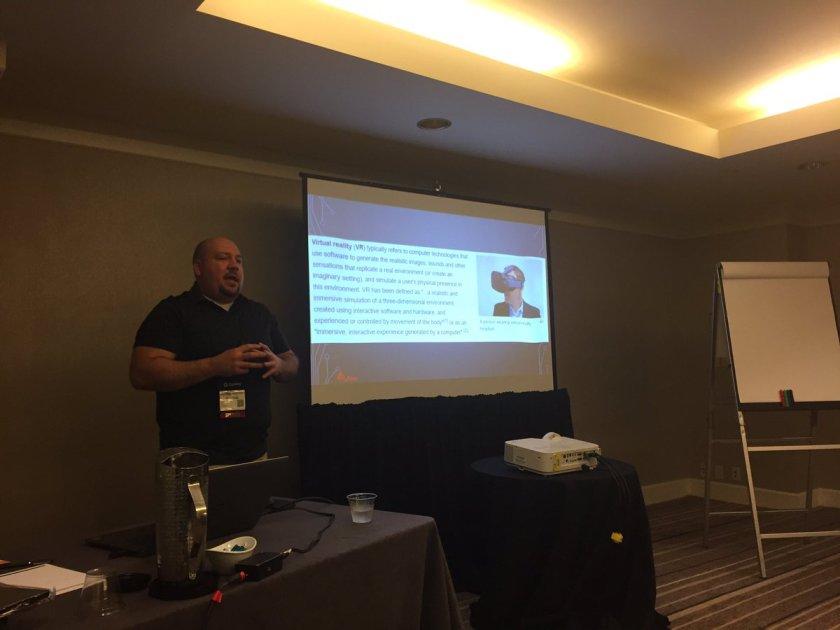 Sheyahshe presenting on VR