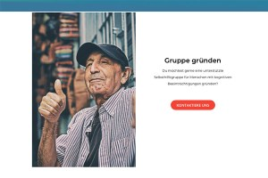 Screenshot der Website.