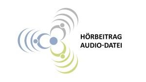 """Blumen-Logo der Regionalbüros mit dem Schriftzug """"Hörbeitrag, Audio-Datei"""""""