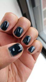 Inky blue frankenpolish