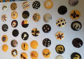 Handpainted thumb tacks