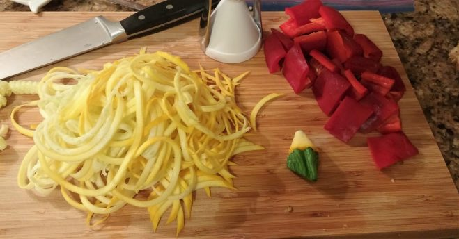 Zoodles Red Curry - Prep