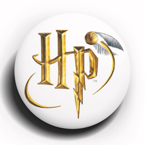 Harry Potter Golden Snitch Button Pin