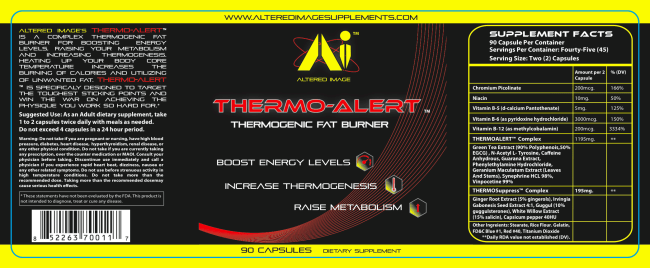 Thermo-Alert: Thermogenic Fat burner, boost Energy levels, increase thermogenesis, raise metabolism