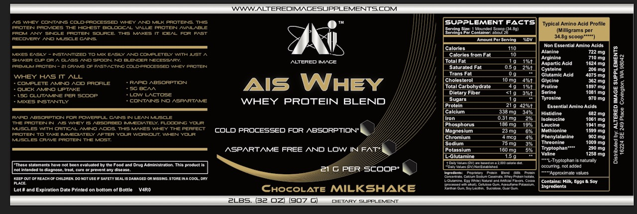 AIS Whey (Chocolate Milkshake) - 2 Pounds