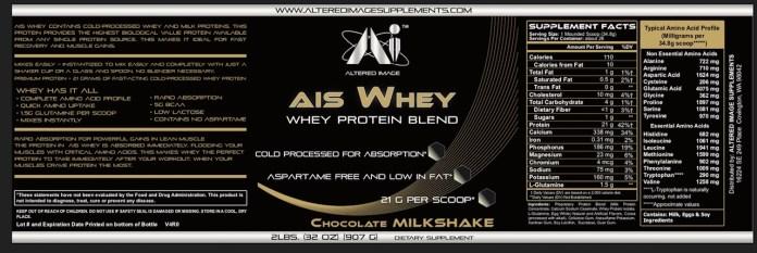 AIS Whey (Chocolate Milkshake) - 2 Pounds